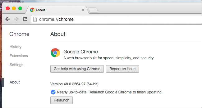 Google Chrome will automatically switch to 64-bit on compatible PCs