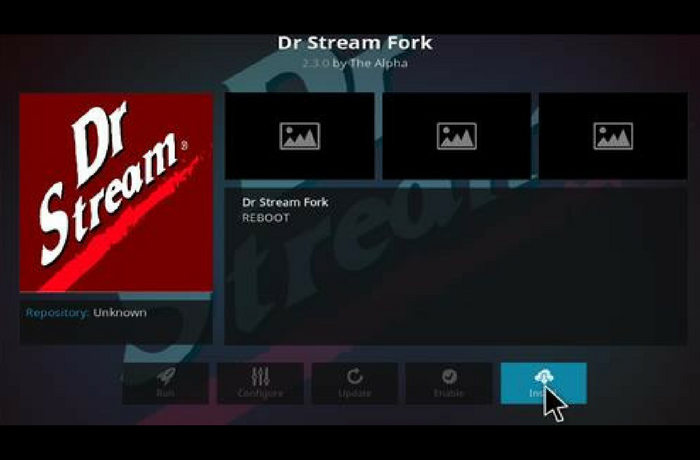 how to get dr stream for kodi