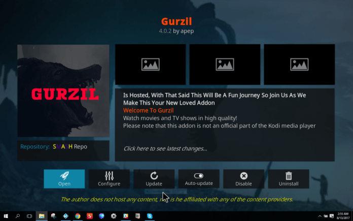 Gurzil Kodi Addon - Best Working Kodi Addon