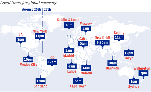 Local times for global coverage