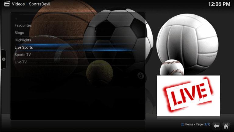 SportsDevil Kodi Addon - Best Working Kodi Addon