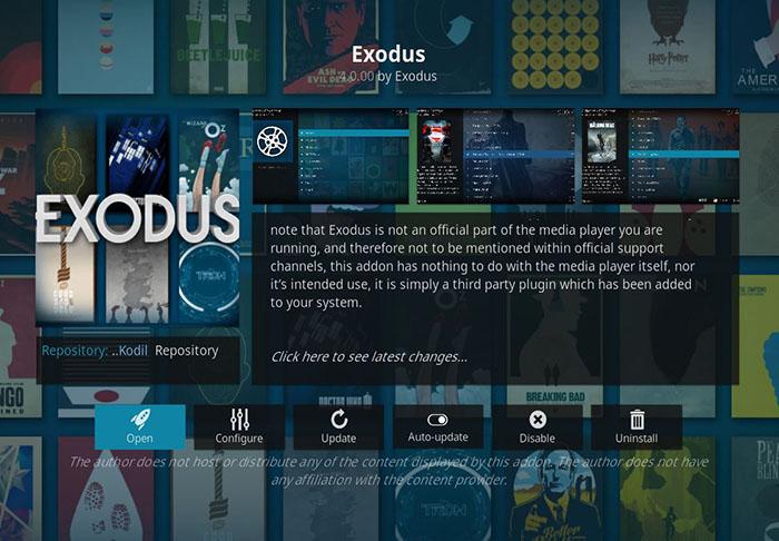 Cartoon Kodi Addons - Exodus