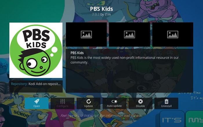 Cartoon Kodi Addons - PBS Kids