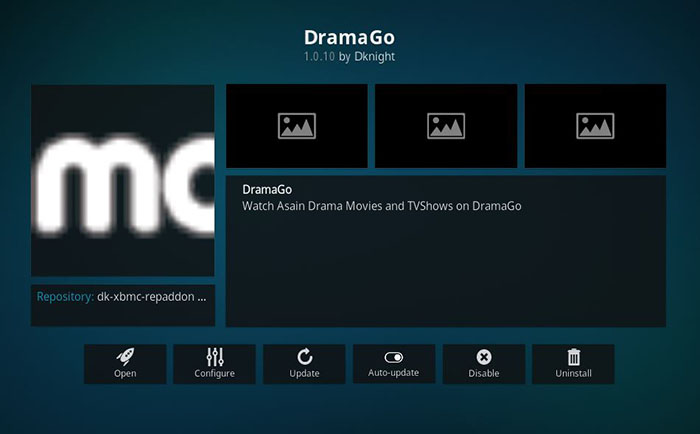 Chinese Kodi Addons - DramaGO