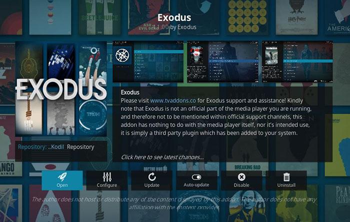 Chinese Kodi Addons - Exodus