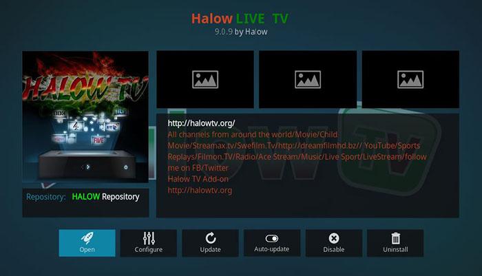 Chinese Kodi Addons - Halow Live TV