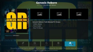 Genesis Reborn Kodi Add-On info page