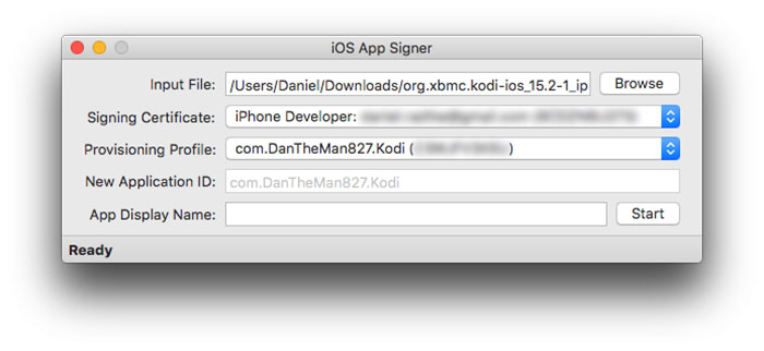 Install Kodi on iOS - Xcode 7