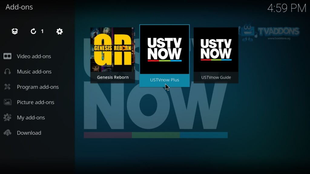 Launch USTVNow Plus