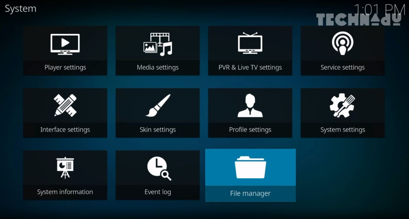 Phoenix Kodi Add-on - Installation Step 1