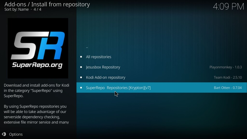 Select SuperRepo Repositories