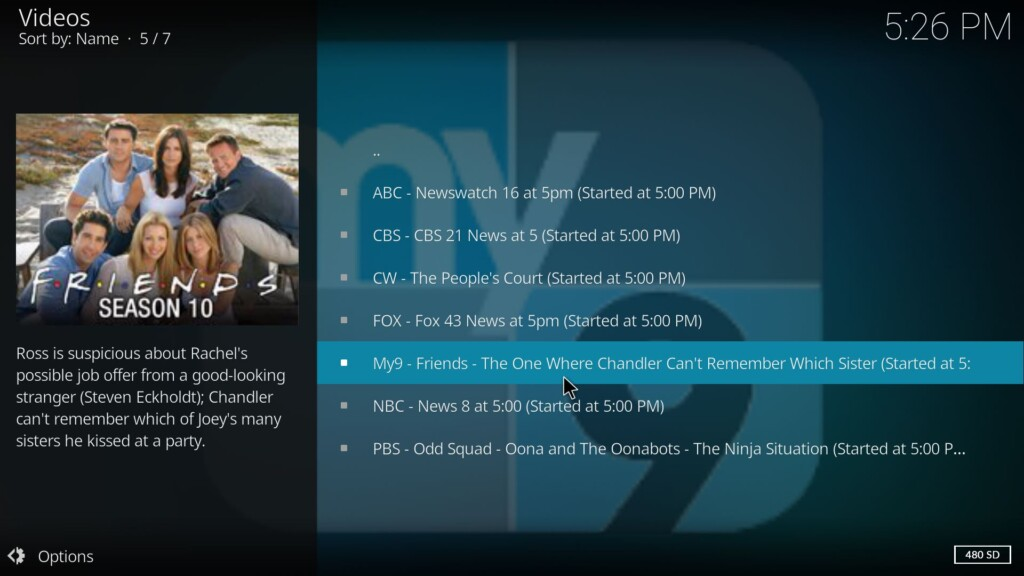 Watch any video on Kodi using USTVNow