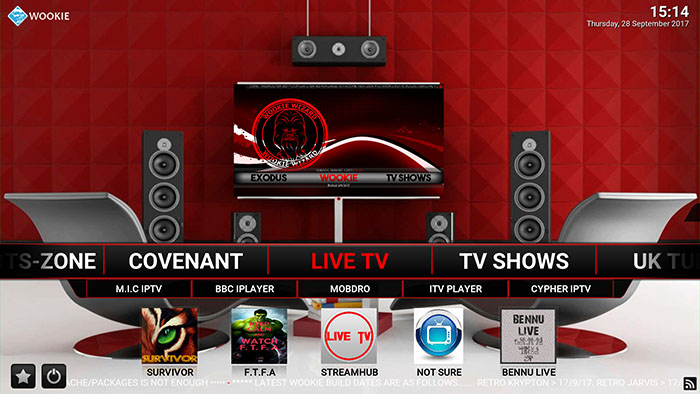 Wookie Kodi Build - Live TV