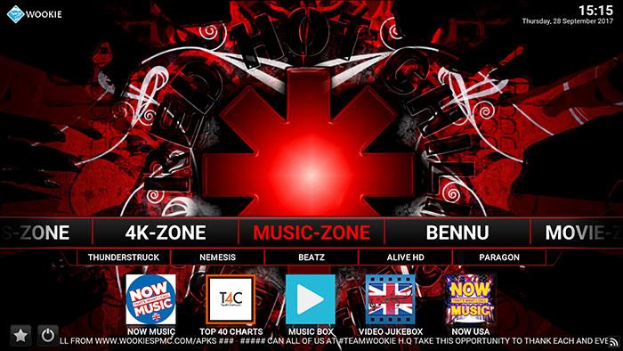 Wookie Kodi Build - Music Zone