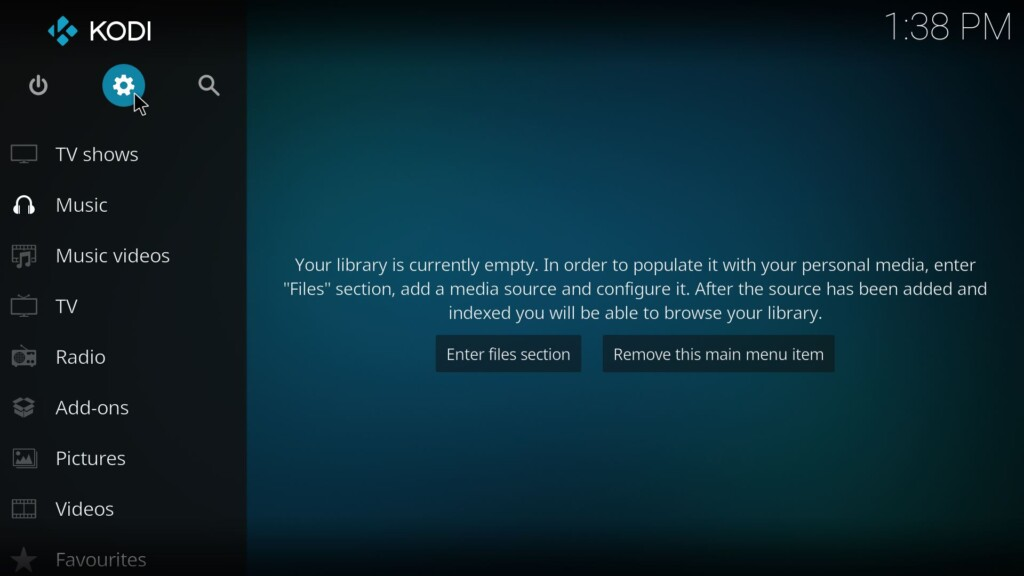 Kodi Installation - Screenshot 1
