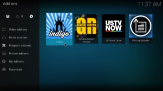 Indigo Kodi Addon Installed