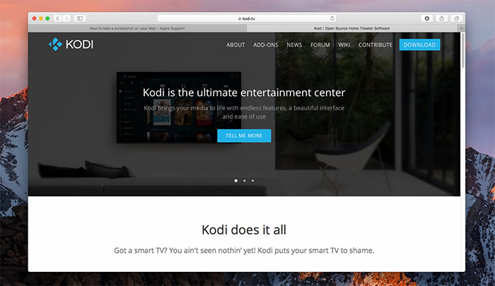 Install Kodi for Mac - Install 1