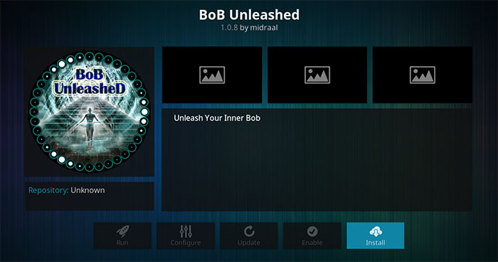 BoB Unleashed Kodi Addon