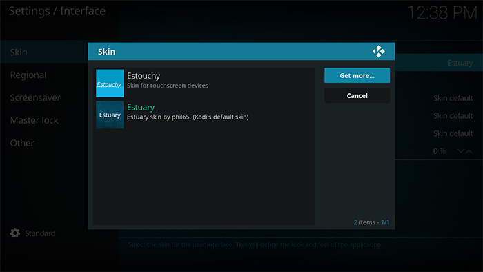 How to change skins on Kodi