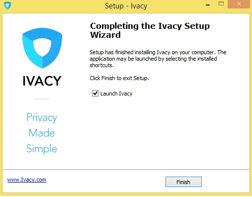 Ivacy VPN Review Install Complete
