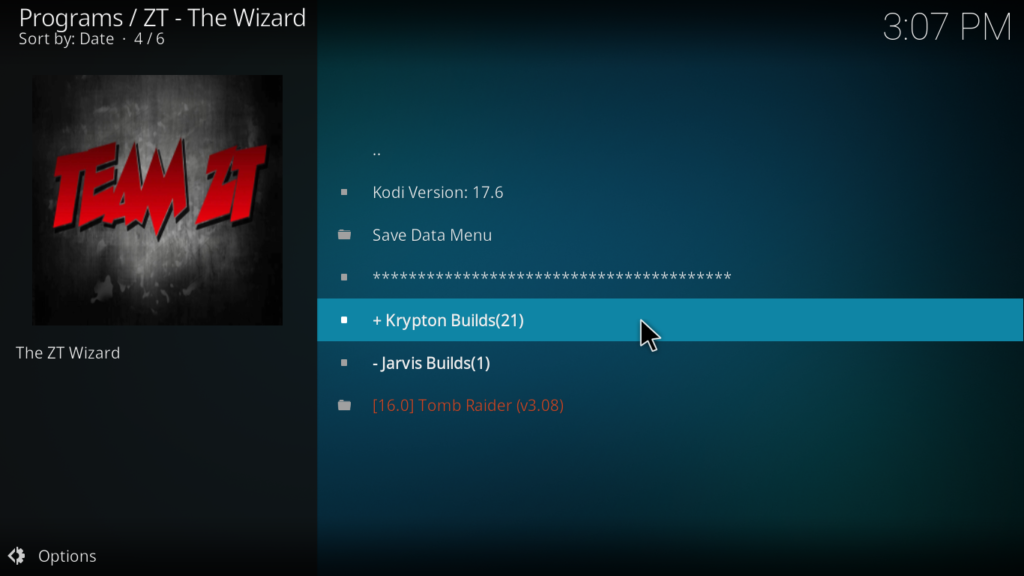 Locate 'Kryptikz ZT Edition Krypton' and click on it.