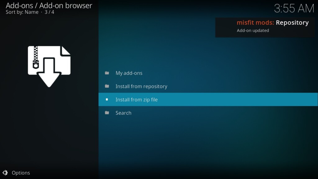 Misfit Mod Lite Kodi Build