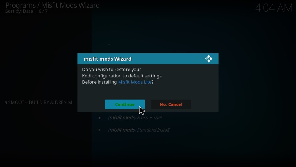 Misfit Mod Lite Kodi Add-on