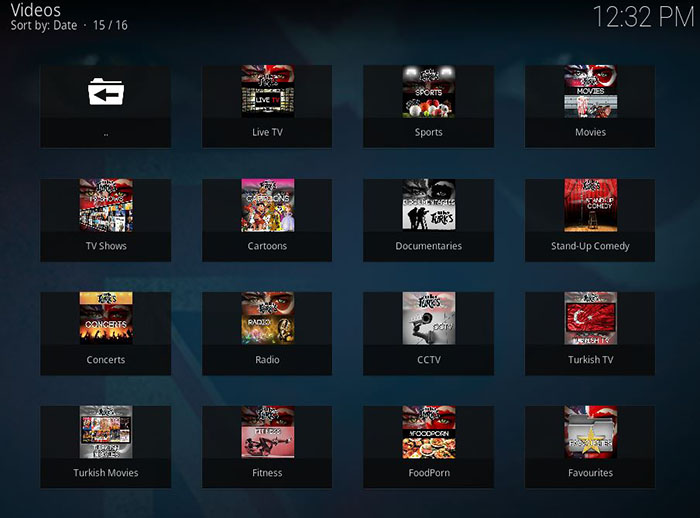UK Turk Playlists Kodi Addon