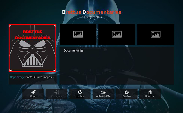 Brettus Documentaries Kodi Addon