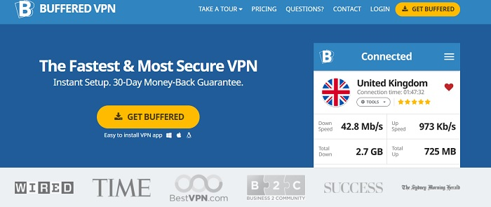 Buffered VPN Review Website