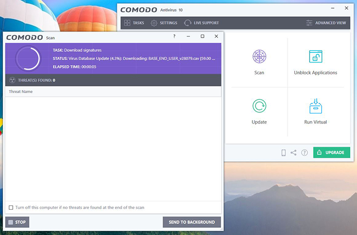 Comodo Automated Protection