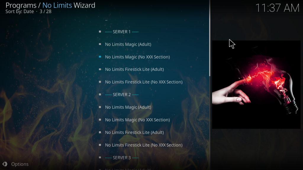 No Limits Magic Kodi Build