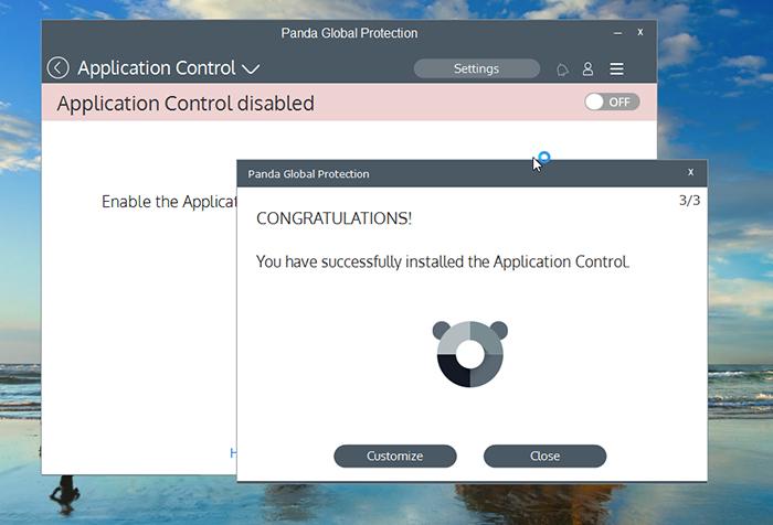 Panda Global Protection Antivirus Application Sceen