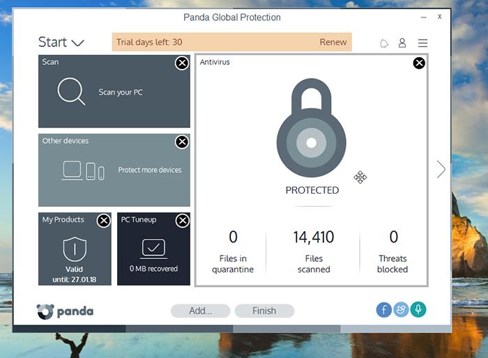 Panda Global Protection Antivirus Customisation