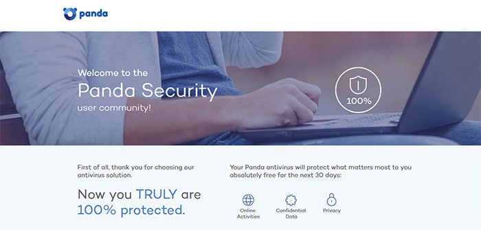 Panda Global Protection Antivirus Welcome