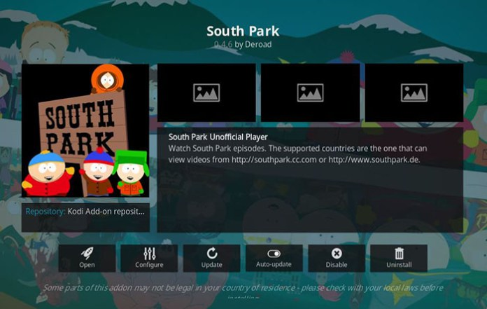 South Park Kodi Addon