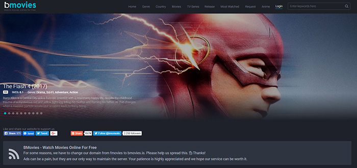 BMovies (bmovies.is) - Free Movie Streaming Sites