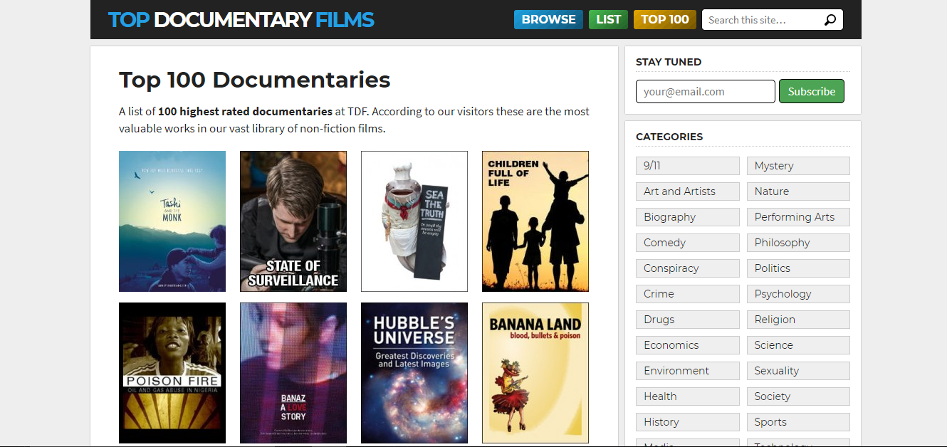 The Best Websites to Watch Documentaries Online for Free!