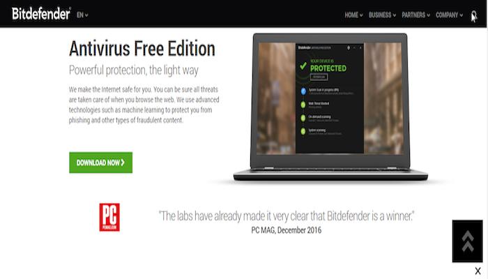 Best Free Antivirus 2018: Bitdefender Free Antivirus