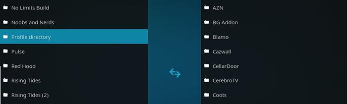 Kodi Profile Directory