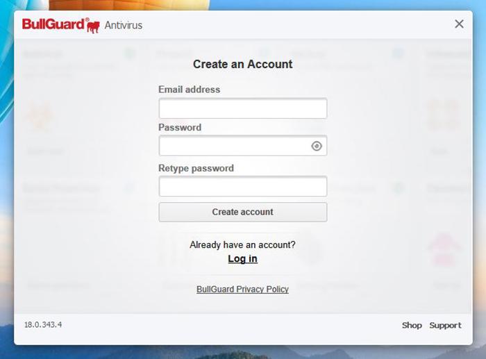 Installation Bullguard Antivirus