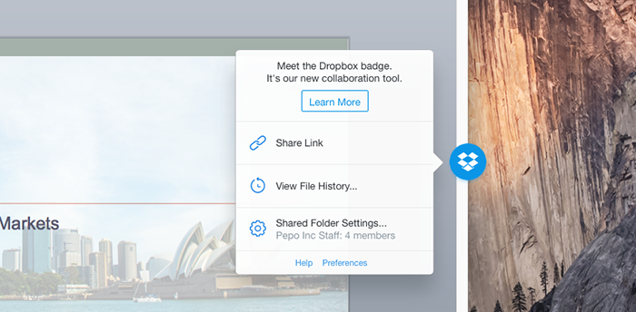 Dropbox Office Badge
