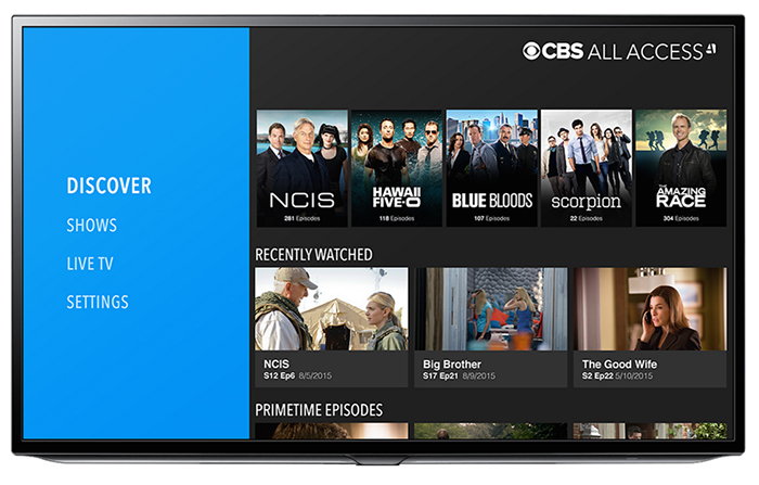 CBS All Access Dashboard