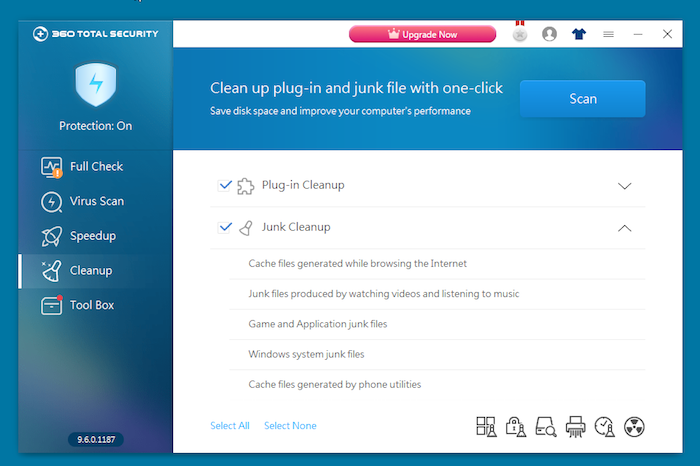 360 Total Security Antivirus additional features