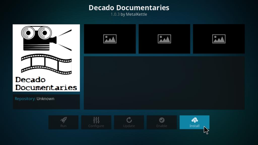 Decado Documentaries Kodi Addon - Install