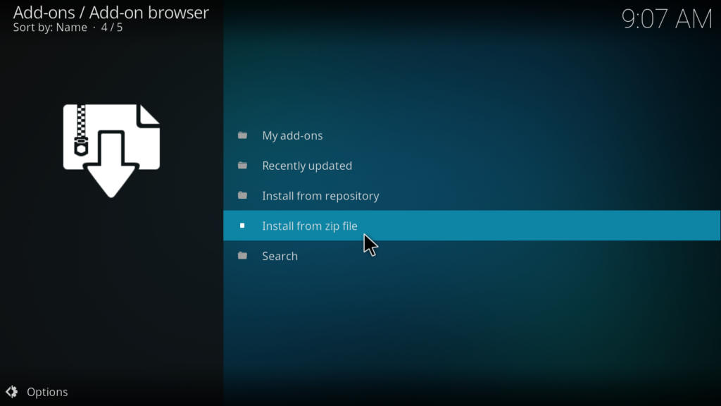 Decado Documentaries Kodi Addon - Install from Zip File
