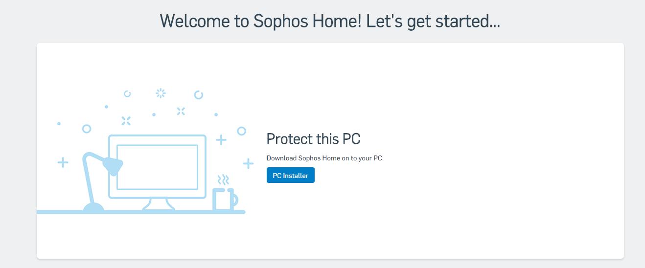 Sophos Home Antivirus Dashboard