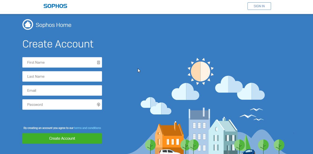 Sophos Home Antivirus account