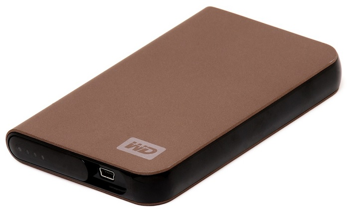 Drawing of Western Digital portable drive