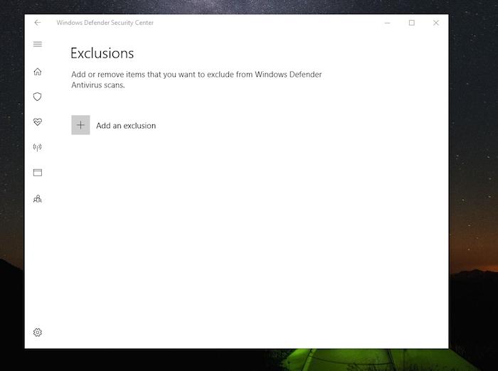Windows Defenderexclusions